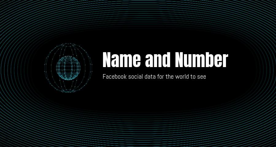 Name and number blog header